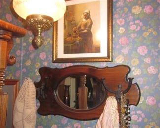 Mirrored Hat/Coat Wall Hanger