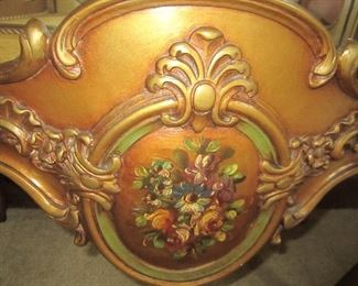 DETAIL OF BOTTOM FRENCH CURIO CABINET