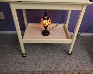 LAMP AND SIDE TABLE