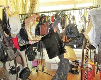 MESH ANTIQUE  PURSES, COACH, HATS FROM  NEW TO VERY VINTAGE