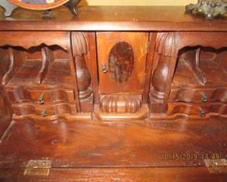 inside of desk