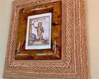 Seagrass framed art