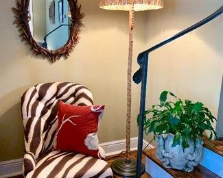 Child size zebra print chair