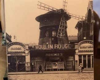 Large postcard of the Moulin Rouge.