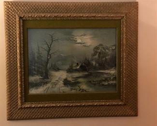Winter scene artwork