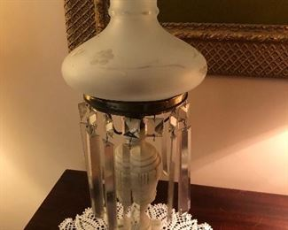 Crystal accent lamp (no electrical cord)