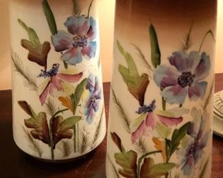 Hand painted vases