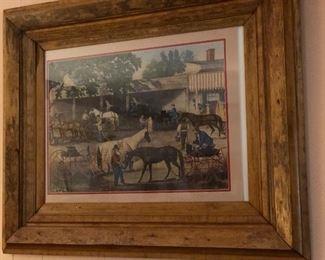 Country life scene artwork