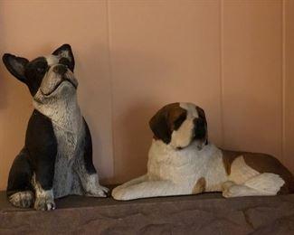 Doggie statues