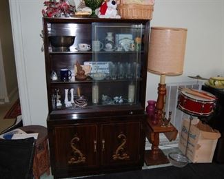 Thomasville China Cabinet Oriental Design