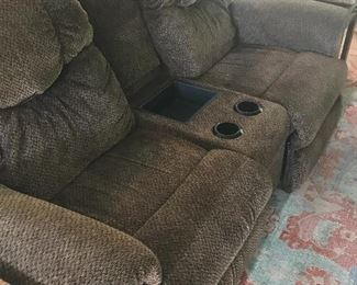 Comfy theater love seat