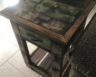 Rustic painted end tables