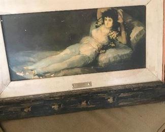 Vintage lady print