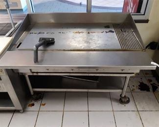 Keating Miraclean Commercial Grill on Stand
