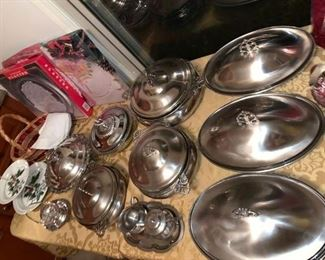 Brand new vintage serving / catering dishes