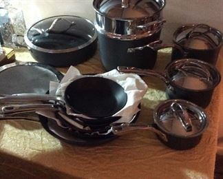 16 piece Calphalon Elite Professional nonstick cookware set