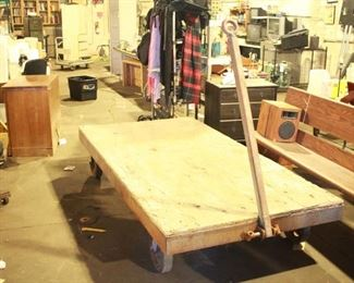 $500 / 4ft x 8ft Railroad Industrial Iron Steel Wheeled Cart