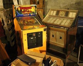 $55 / Empty jukebox, Video Game / Pinball machine missing plunger