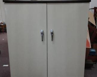 Three Shelf Two Door Storage Cabinet
