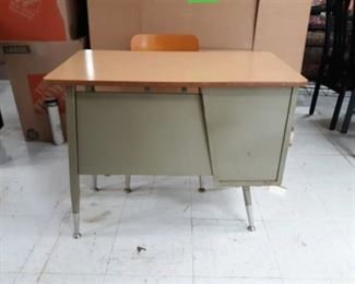 Metal Student Desk and Chair