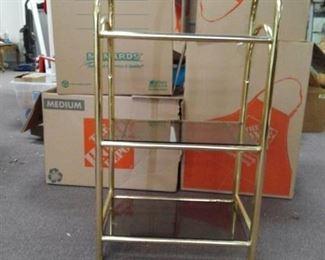 Metal Arched Shelf w/ Glass Shelves