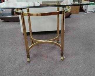 Metal /Glass End Table