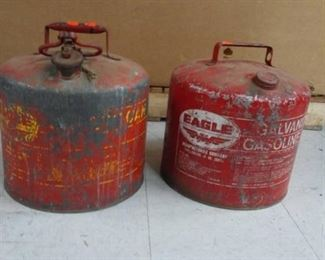 Two Metal Gasoline Cans