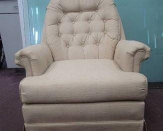 Beige/ Cream Swivel Arm Chair