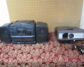 Argus 543 Automatic and Sears Model 900.22398490 Radio, Tape Recorder, CD Player
