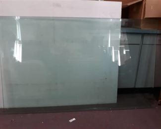 Two Pieces of Beveled Tabletop Glass XL