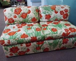 Poppy Floral Upholstered Loveseat