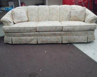 XL Upholstered Sofa Cream / Beige