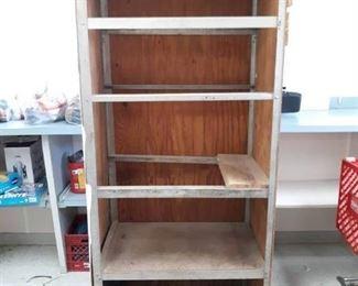 Wood Rolling Storage Cabinet