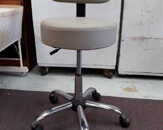 Adjustable Vinyl Covered Rolling Task Chair