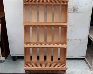 Foldable Wood Shelving Unit