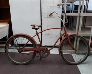 Vintage Hawthorne Montgomery Wards Bicycle w/ Tall Handlebars
