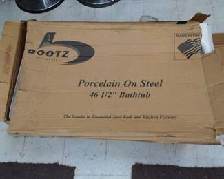 "Bootz Porcelain on Steel 46 1/2"" Bathtub"