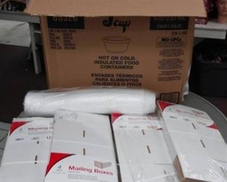 Mailing Boxes, Case of Insulated Food Containers