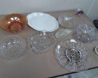 Cut Glass Bowls, Serving Lazy Susan, Platter…