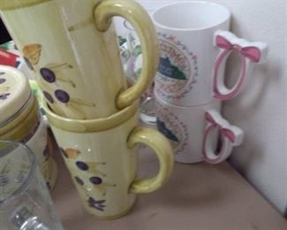 Chip/Dip Bowl, Vintage School Bell, Cups and MORE