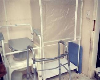 Medical Walker, Potty Chairs and Portable Storage Closet