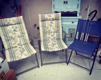 Three Folding Lawn Chairs