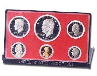 1978-S U.S. Mint Clad Proof Set (6 coins), Choice Proof, PR63