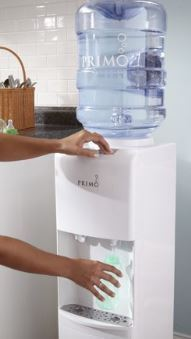 Primo Top Loading Hot / Cold Water Dispenser, White