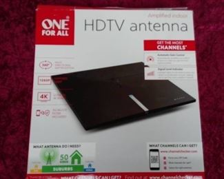 One For All HDTV Amplified Indoor TV Antenna 50 mile range