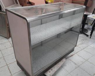 Console type Double Door Glass Top Display Cabinet