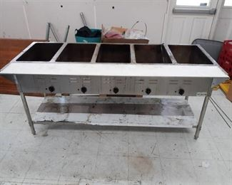 Serv IT #423EST5WE 5 pan Open Well Electric Steam Table