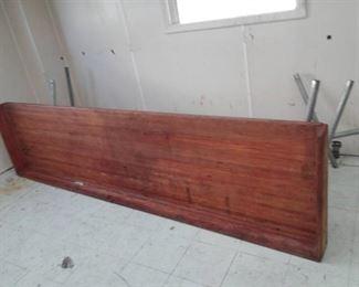 Galvanized Pipe Table Base w/ Splash Block Butcher Block Top