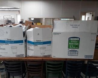 Plastic and Foam Cups Box Lots