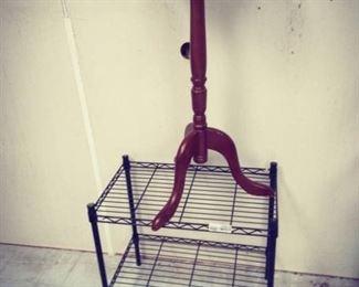 Vintage Valet Chair, Metal Rack, Plant Stand, 2 End Tables